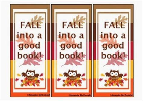 Mrs Mcdonald S 4th Grade New Products And A Freebie Fall Into A Book Template