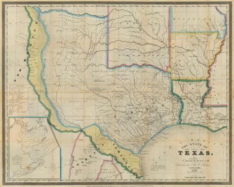 republic of texas map 1845 designs 1845 texas map