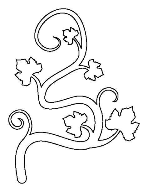 printable vine leaves pumpkin vine pattern use the printable outline for crafts