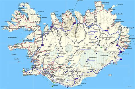 map iceland maps update 600374 tourist attractions map in iceland