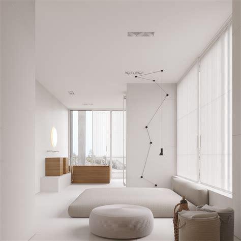 simple white room a mesmerizingly minimalist 4 bedroom luxury house by igor sirotov