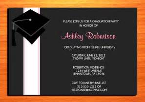 graduation invitations templates sle graduation invitation templates sle