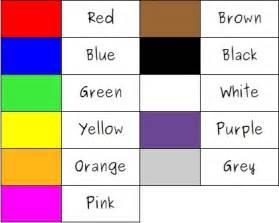 color en ingles colores elementales en ingl 233 s colores en ingles