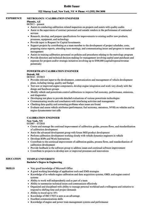 design validation engineer job description calibration manager sle resume sle cover letter for