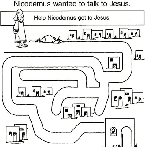 coloring pages jesus and nicodemus 39 best images about day 3 vbs jesus saw nicodemus on