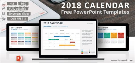 calendar powerpoint template creative and free powerpoint templates showeet