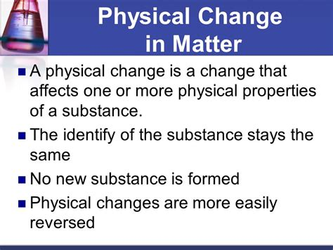 the color of a substance is a physical property how does a physical change differ from a chemical change