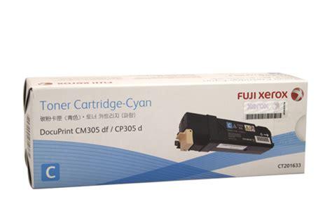 Serbuk Toner Fuji Xerox Cp305d Cp305 Cyan jual docuprint cp305 cm305 fuji xerox toner cyan ct201633