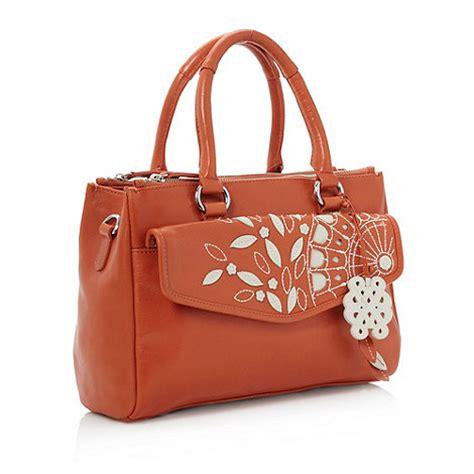 Bailly Quinn bailey quinn medium leather chequers grab bag orange new ebay