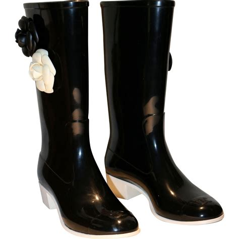 chanel boots vintage chanel camellia flower boots from nenghetty