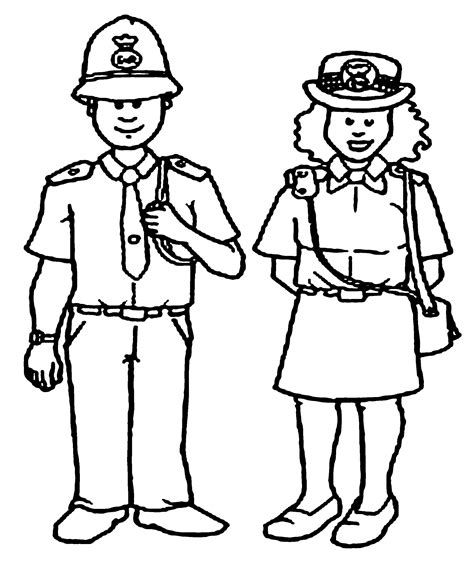 Police Officer Coloring Pages Nywestierescue Com Officer Coloring Pages