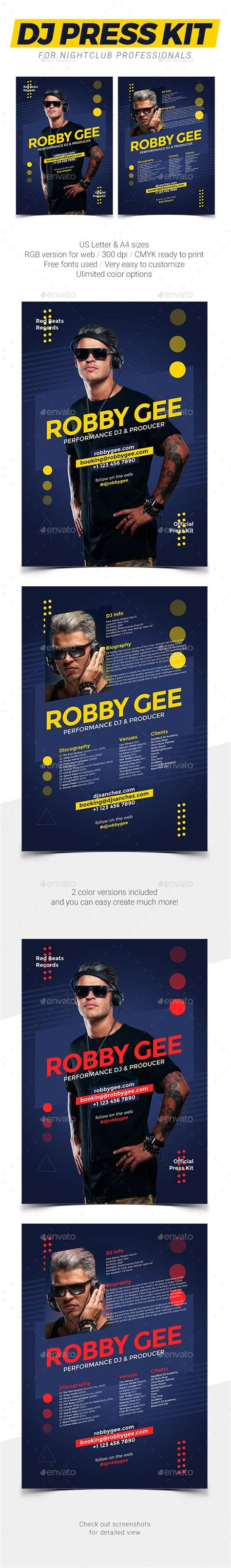 1000 Images About Dj Press Kit And Dj Resume Templates On Pinterest Resume Template Download Free Press Kit Template Psd