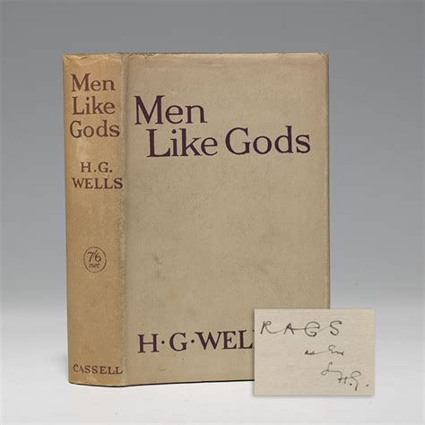 Men Like Gods First Edition Signed H G Wells