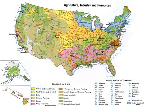 map of the united states natural resources natural resources of usa