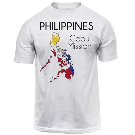 White Shirt Philippines by Philippines Cebu Map Mission Shirt S