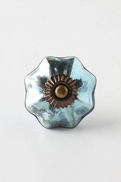 Anthropologie Glass Knobs by Knobs Mercury Glass And Mercury On