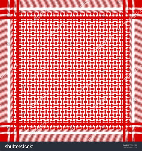arab keffiyeh pattern keffiyeh vector seamless pattern traditional middle stock