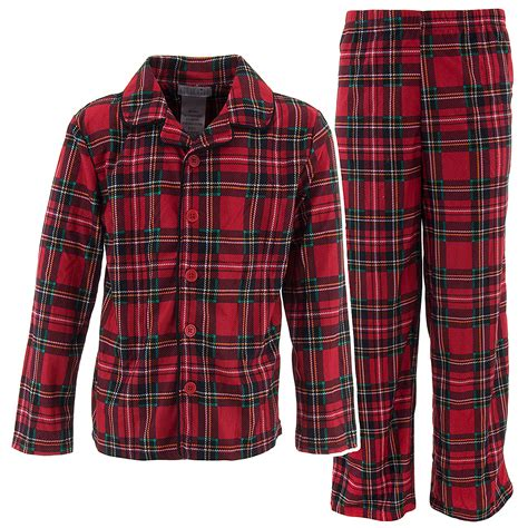 plaid pajamas plaid coat style pajamas for toddlers and boys