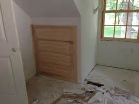 Knee Wall Storage Bathroom Start Of The Cabinets Cape Codvillage Cape Cod
