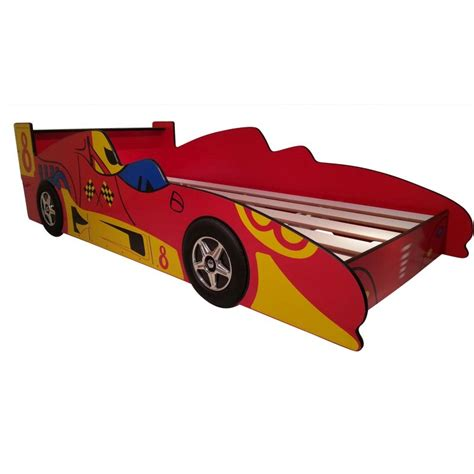 Toddler Kids Red Racing Race Car Bed Frame Buy Novelty Beds Car Bed Frames