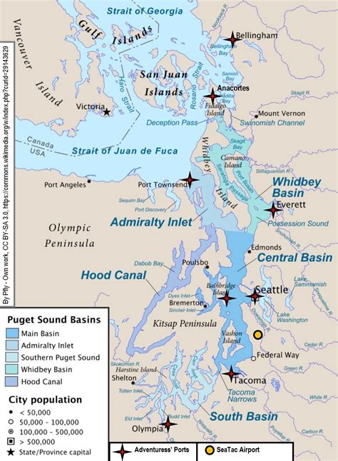 Map Of Puget Sound And by Ports And Directions Sound Experience