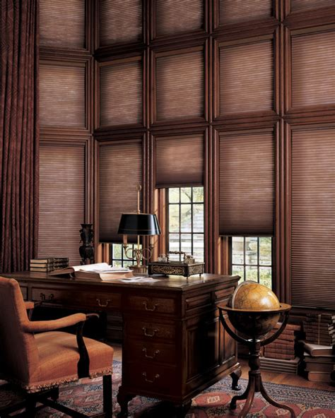 home office window treatments hunter douglas european style window treatments and