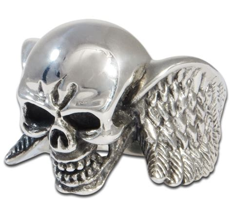 sterling silver skull winged sterling silver skull ring evilrings