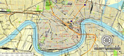 printable maps new orleans new orleans printable atlas vector street map full