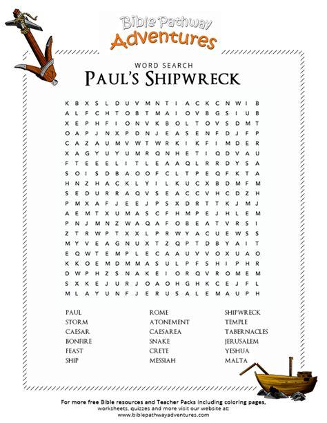 bible word search paul s shipwreck free download