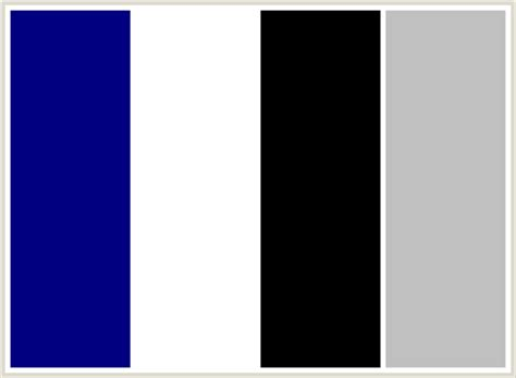 what colour goes with black and white colorcombo3 with hex colors 000080 ffffff 000000 c0c0c0