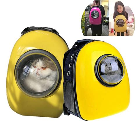 Backpack Cat The Moon capsule cat carrier backpack let your cat travel like an