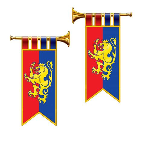 Set Terompet herald trumpet cutouts 2 set a royally regal
