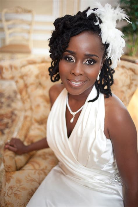 black bride wedding hairstyles gorgeous dc wedding with black white and red color scheme
