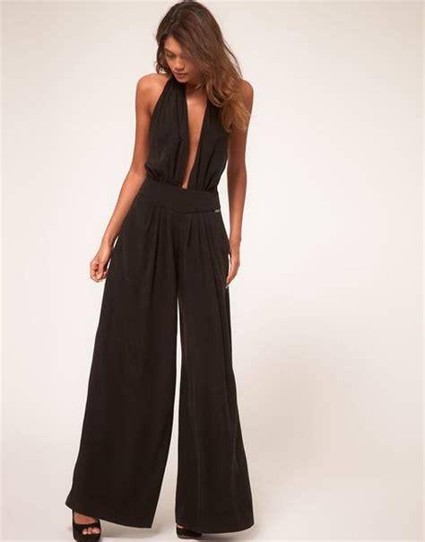Jumpsuit By Miuss miss sixty pant overalls in black lyst