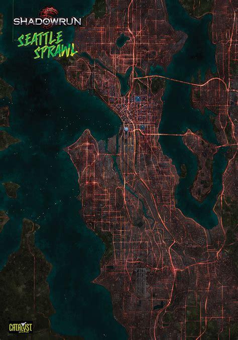 seattle interactive map map of seattle in shadowrun cyberpunk shadowrun