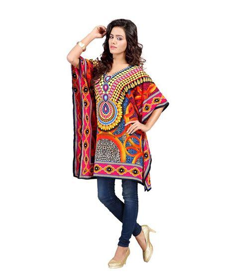 Gamis Crepe India 36 buy kurtiz multi color poly crepe printed kaftan at best prices in india snapdeal