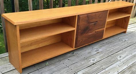 Low Shelf by White Oak And Black Walnut Low Shelf By Robert Whitley For