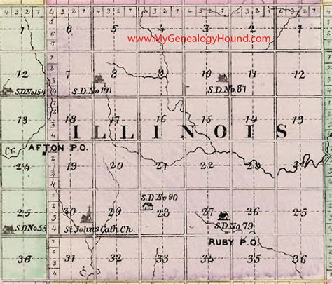 Sedgwick County Number Search Illinois Township Sedgwick County Kansas 1887 Map