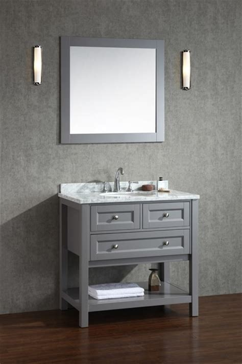 beach bathroom cabinets new 36 quot hton bathroom vanity slate gray beach style