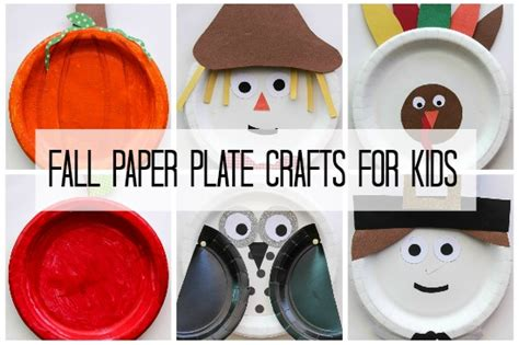 Paper Plate Fall Crafts - fall crafts for