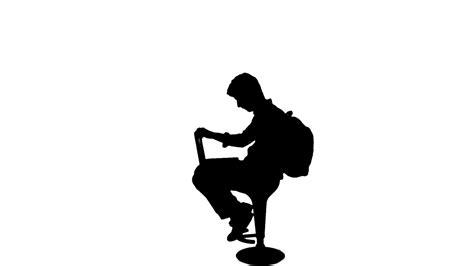 university student work laptop silhouette 1080p motion
