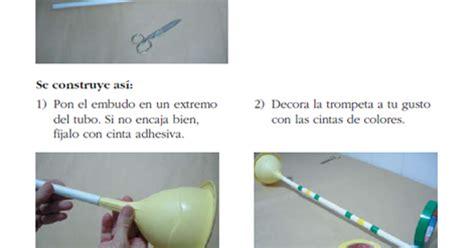 trompeta hecha con material reciclable imagui jugar y colorear trompeta hecha con material reciclable