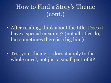 how to find themes in stories ppt theme an idea about life powerpoint presentation