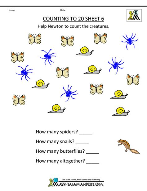 Learning Worksheets by Free Printable Kindergarten Worksheets