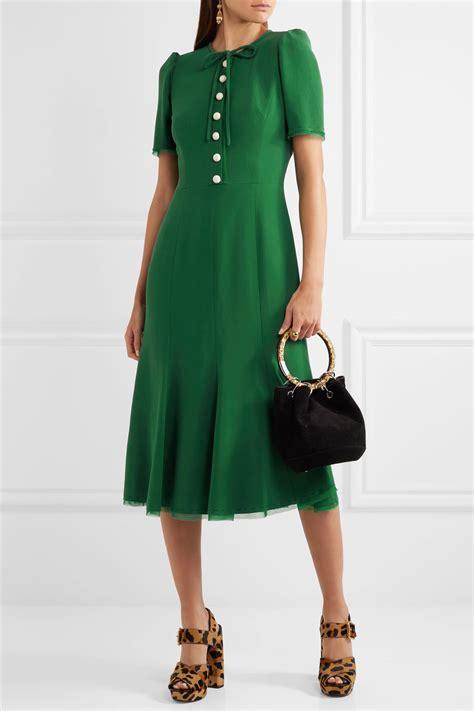 Dres Gabbana Dolce dolce gabbana green midi dress 183 kate middleton style