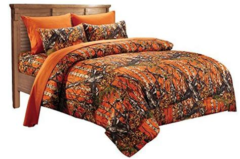 camo down comforter 20 lakes super soft microfiber orange camo comforter