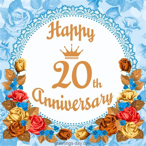 happy 20th anniversary free greetings and wishes anniversary weddinganniversary http