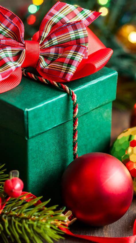wallpaper christmas  year gift box balls fir tree decorations holidays