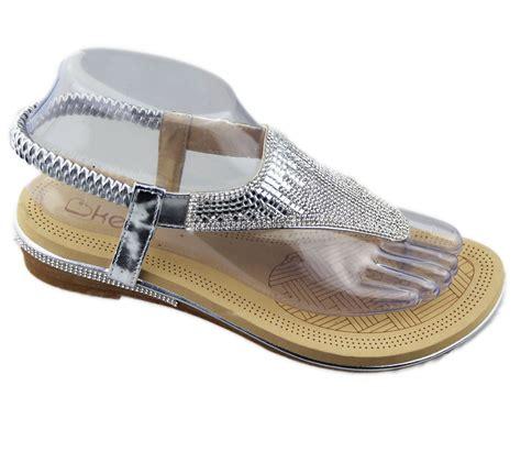 Sandal Aldo Diamante Beige Original Sale womens flat sandals diamante summer wedding toe post soft slipper ebay