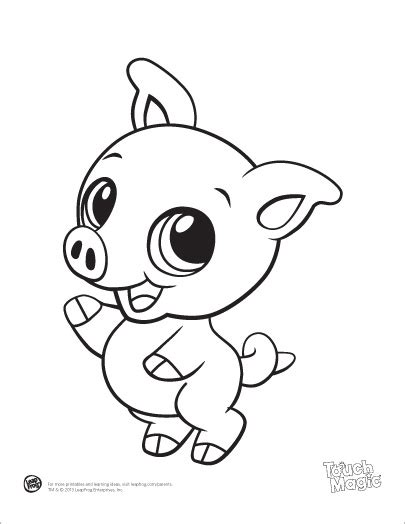 simple pig coloring page leapfrog printable baby animal coloring pages pig